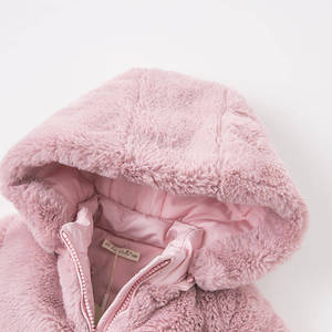Image 4 - DBA7949 dave bella winter baby girls pink hooded coat infant padded jacket children high quality coat kids padded outerwear