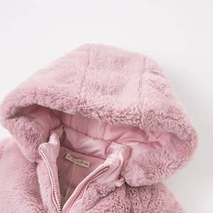 Image 4 - DBA7949 dave bella winter baby meisjes roze kapmantel baby gewatteerde jas kinderen hoge kwaliteit jas kinderen gewatteerde bovenkleding