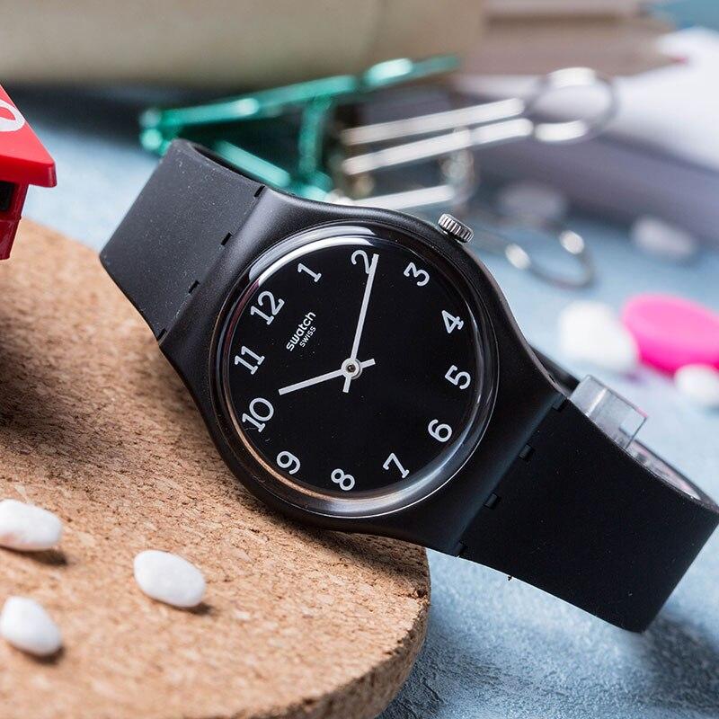 Swatch Classic color password series Cool black quartz watch for men and women GB301 цена и фото