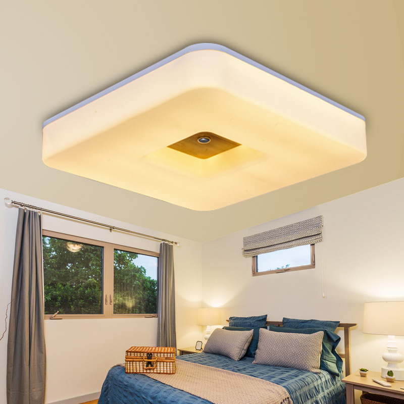 solid wood bedroom square led to absorb dome light corridor lights Nordic sitting room dining room study the balcony|Ceiling Lights| |  - title=