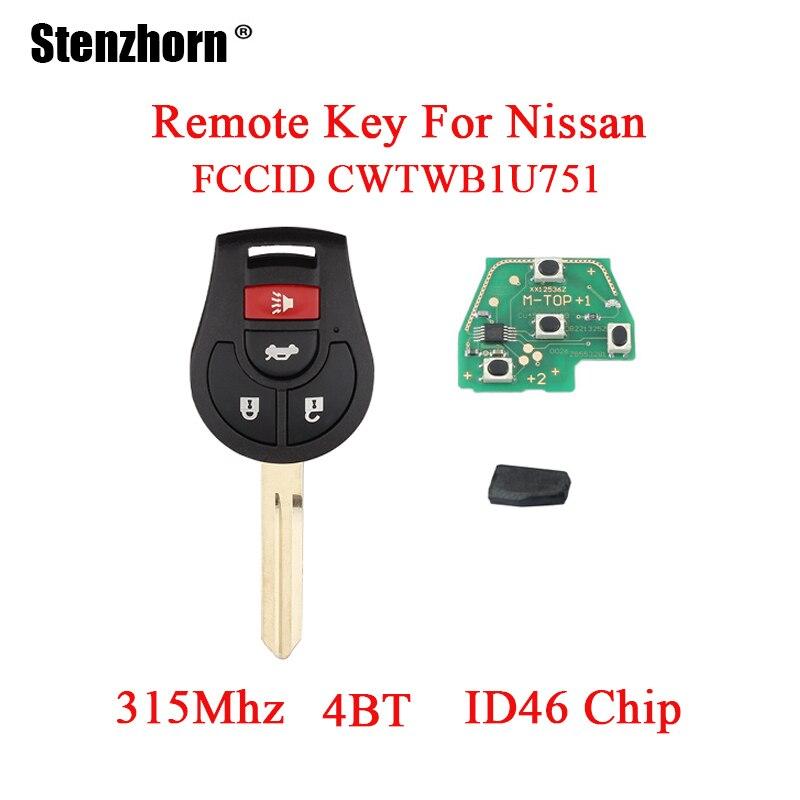 Stenzhorn 315 mhz Remplacement Pour Nissan Rogue 2008-2016 Pour Nissan Versa 2012 2013 2014 2015 À Distance Clé Fob uncut ID46 puce