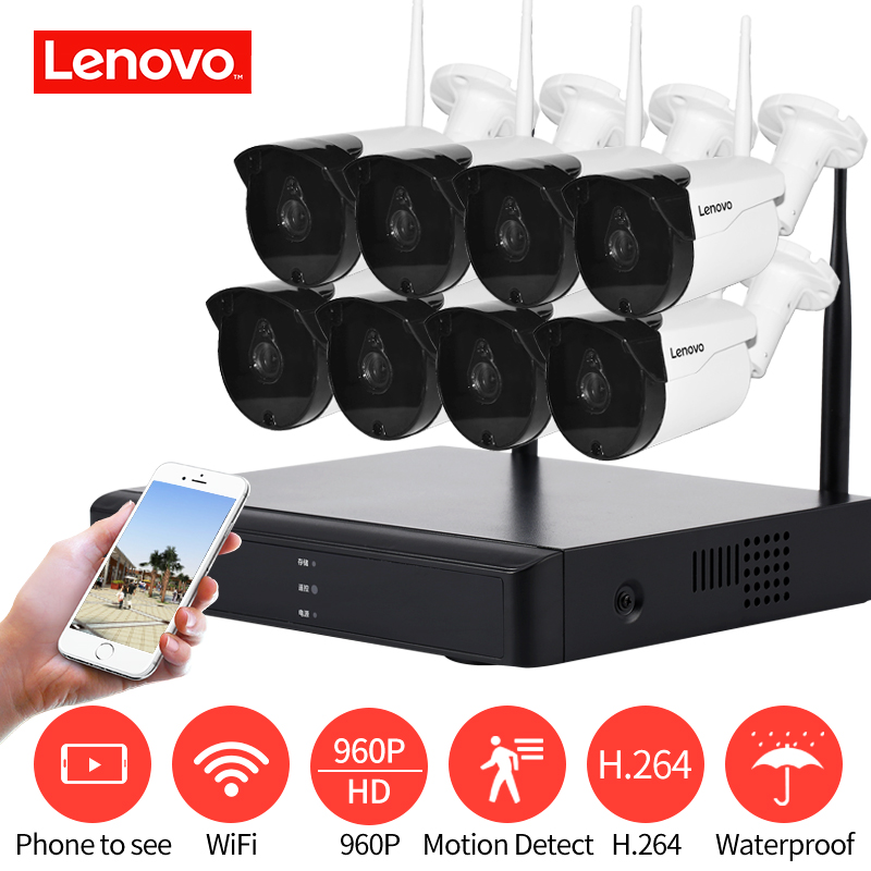 LENOVO Système de Surveillance CCTV Système 960 p HDMI AHD CCTV DVR 8 pcs 1.3 MP IR Caméra de Sécurité Extérieure 1280 TVL Caméra Surveiller