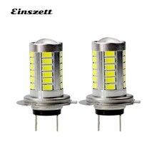 2pcs H7 LED Fog Light High Bright White DC12V 33SMD 5630 15W LED HeadLight Lamp Bulb
