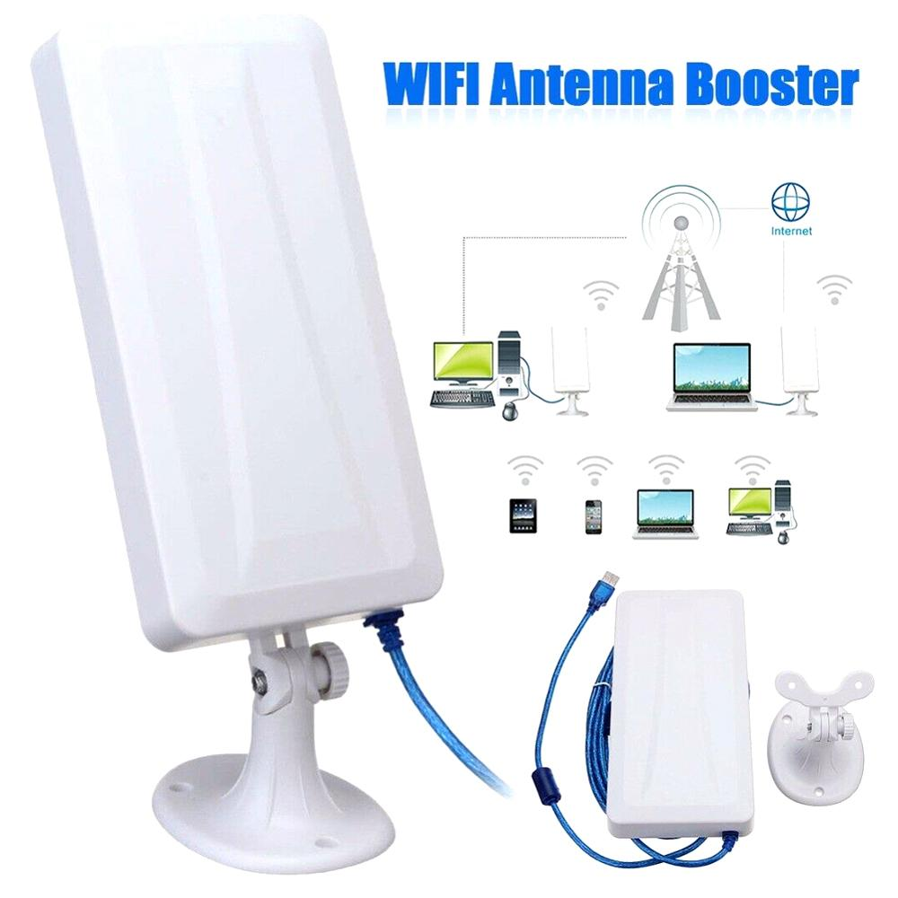 2.4G USB Wireless Network Card WiFi Extender Wireless Outdoor Router Repeater Computer Network Signal Enhanced Wifi Receiver 5m(China)