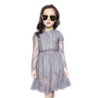 2017 Tidal Model Children Summer New Dress For Lace Girls 9 Years Baby Girl Clothes