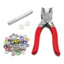 50pcs 9.5mm Mix 13 Colors Hollow Prong Snap Buttons Buckle Metal + 1pcs Button Tools