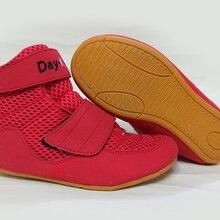Борцовка обувь для детей кикбоксинг обувь ребенок размер 30-35 цвет красный черный и зеленый