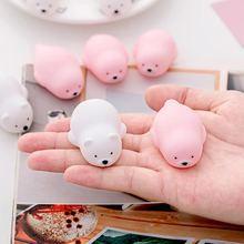 Милые игрушечные печати розовая кричащая резиновая свинка игрушки