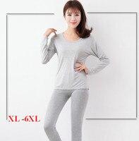 Long Underwear Plus Size 6xl 5xl Warm Women S Thermal Fleece Big Size Set Suit Good