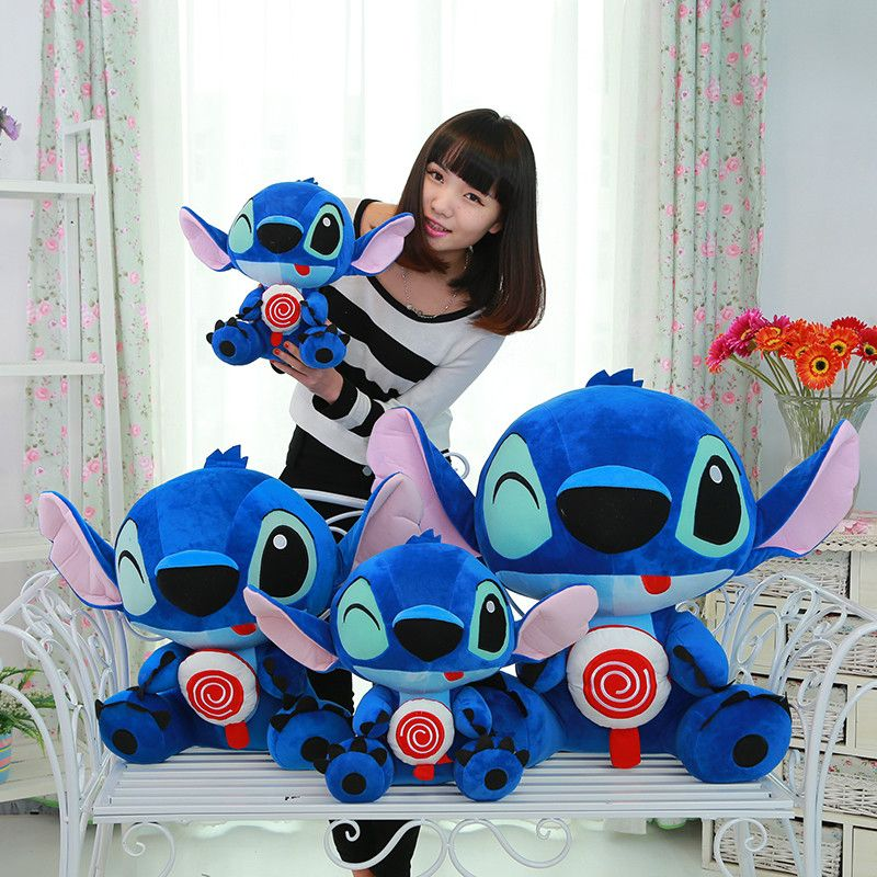Candice guo plush toy stuffed doll baby birthday gift cartoon animal hug hold sweet lollipop Stitch cute christmas present 1pc