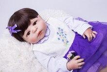 55 cm Full Body Silicone Reborn Bébés Poupée Toys Réaliste Bébé-Reborn Princesse Poupée Enfant Cadeau D'anniversaire Filles Brinquedos