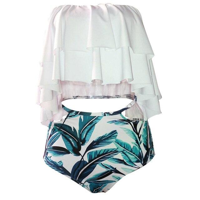 Ruffle Vintage Bottom Bikini Set 2
