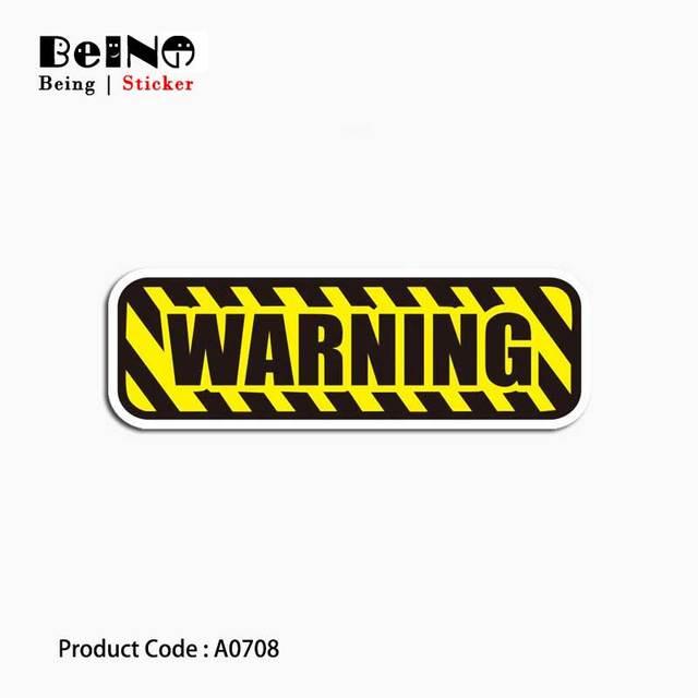 אזהרת סימן לוגו מסוכן מדבקת להזכיר עמיד למים ניידים מזוודת גיטרה מטען סקייטבורד צעצוע יפה A0708 מדבקות QY32