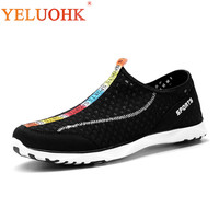 2018 Summer Men Shoes Breathable Soft Men Sneakers Slip On Comfortable Men Casual Shoes