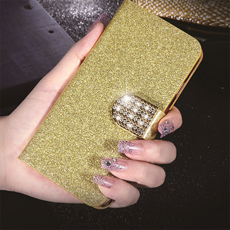 Luxury Leather Flip Case Cover for Fly IQ4503 ERA Life 6 Quad Cases Glitter Cell Phone Coque Wallet Capa Kickstand