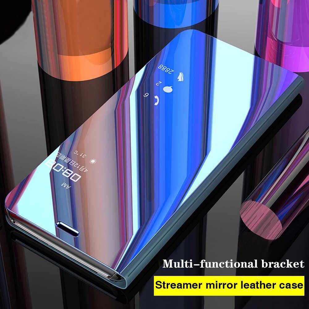 حقيبة لهاتف سامسونج S10 Plus حقيبة لهاتف سامسونج نوت 9 8 حافظة أصلية مرآة ذكية لهاتف سامسونج J4 Plus 2018 J6 J8 S9 S8