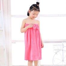 От 7 до 11 лет, удобный детский банный халат для девочек, эластичная Детская Пижама банный халат, банные халаты для детей, мягкая детская одежда