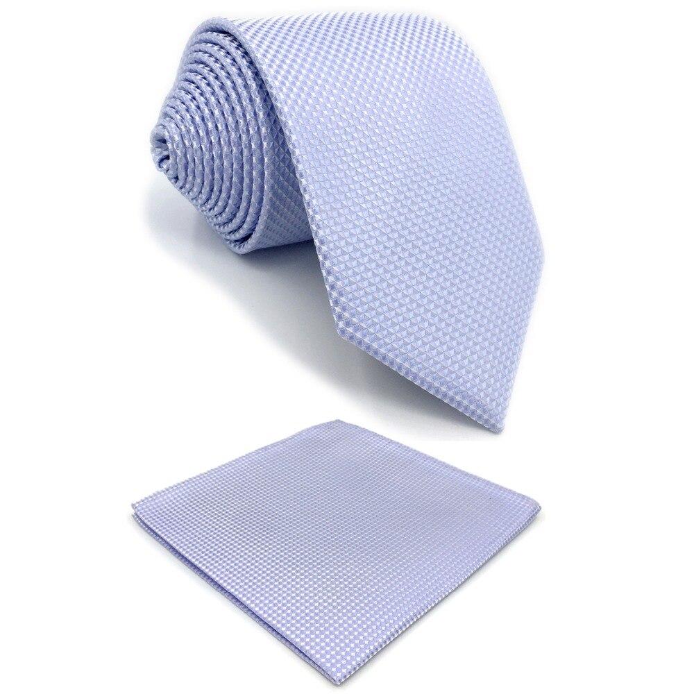 E25 Solid Purple Lavender Mens Ties Silk Tie Set for Men Extra Long 6cm Slim Skinny