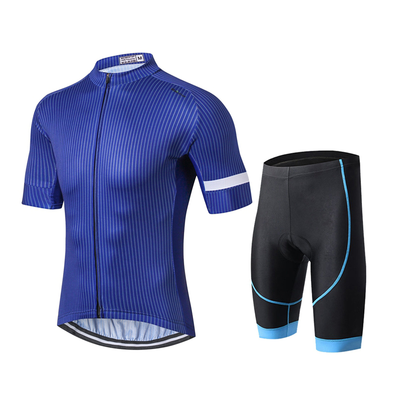 WEIMOSTAR Pro Team Sports Men s Cycling Jersey Sets Short Sleeve Ropa Ciclismo  Bike Maillot Bicycle Bib GEL Shorts Padded Blue-in Cycling Sets from Sports  ... 584b72982