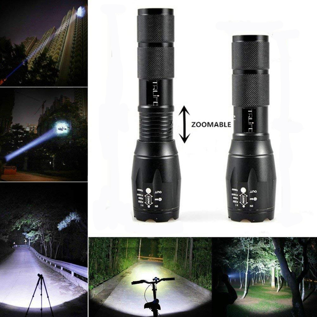 Bicycle Light 8000 Lumens 5 Modes L2 T6 LED cycling Front Light Bike light Lamp Torch Waterproof ZOOM Flashlight By 18650 battey