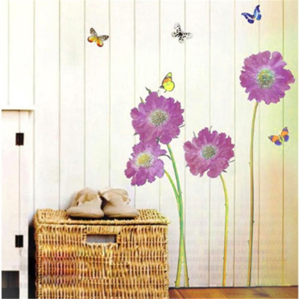 DIY Removable Wall Stickers Purple