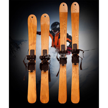 110cm/125cm Outdoor Sport Solid Wood Snowboard Professional Skiing Board Deck Snowboard Sled Adult Children Ski board MS-002
