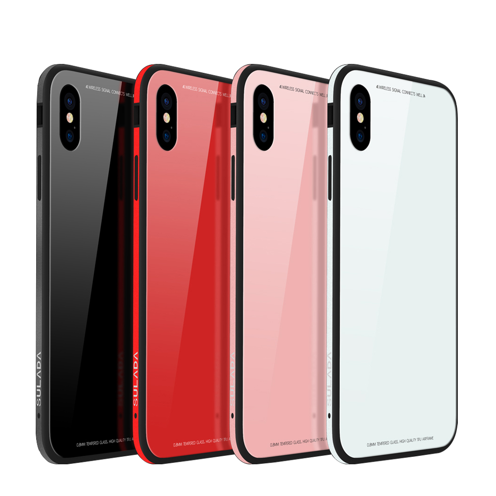 SULADA 9H Tempered Glass Case for iPhone Xs Xr Silicon ...