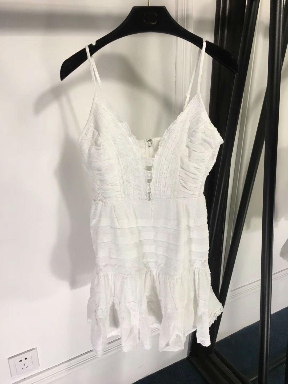 Femmes 2019 Brodé Tailles Robe Couleur white Nouveau 2 Dentelle Vêtements Pour À 3 Couture Bretelles Black rOnrgpq