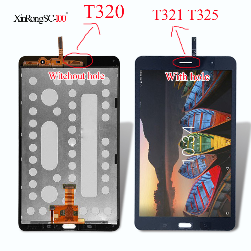 New LCD Display Touch Screen Digitizer Sensors Assembly Panel For Samsung Galaxy Tab Pro SM-T320 SM-T321 SM-T325 T320 T321 T325 new 8 for samsung galaxy tab a p350 lcd display with touch screen digitizer sensors full assembly panel lcd combo replacement