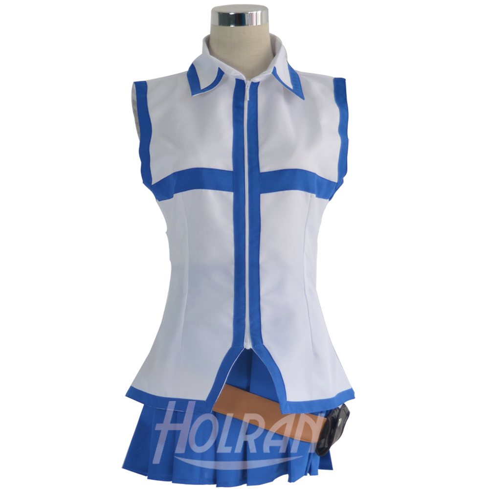 Fairy Tail Lucy Heartfilia Default Blue Dress Cosplay Costume