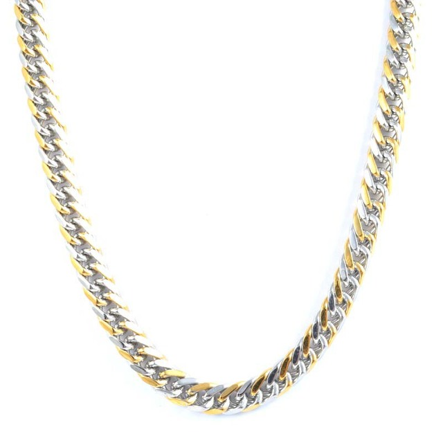 Fashion Snake Chain Necklace Silver Plated Gold 316L Stainless Steel Thick Chain Necklace Jewelry For Men Gift 55cm