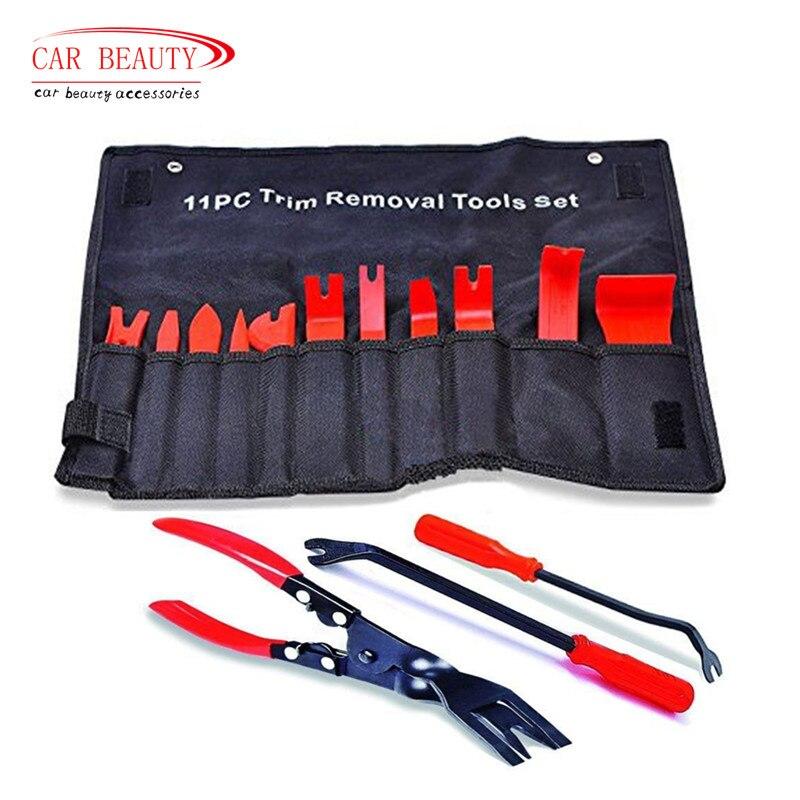 Auto Polster Tool Starke Nylon Trim-Tool Clip Entferner Fahrzeug Tür Molding Dash Panel Niet Schnalle Zangen Fastener Repair Kit