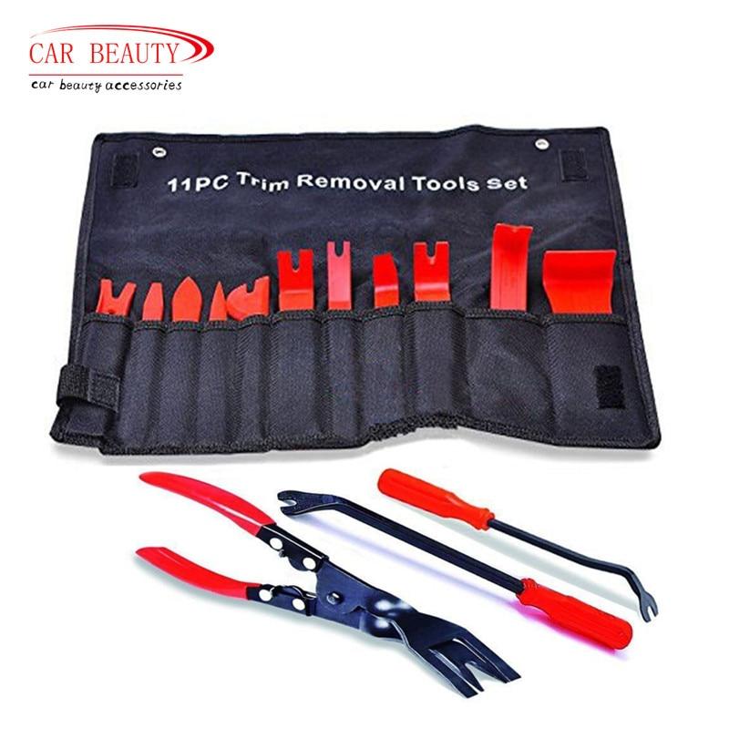 Clips de automóviles tapicería Removal Kit fuerte Nylon Trim herramienta vehículo puerta Molding Dash Panel remache hebilla Alicates removedor