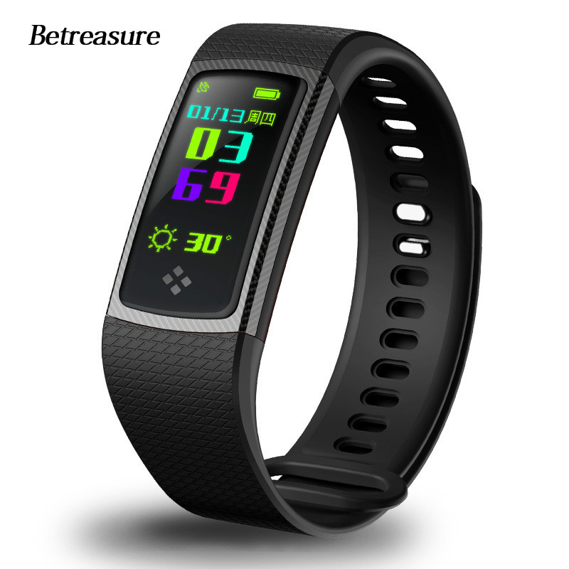 Betreasure BW24 Color Screen Smart Wristband OLED Blood Pressure/Heart Rate Monitor Smart band Sport Bluetooth Fitness Bracelet