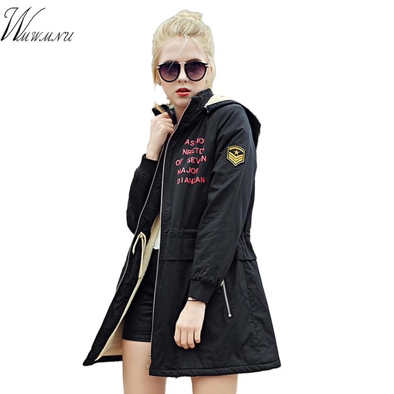 Wmwmnu Sale Full 2017 New Brand Clothing Women Spring Autumn Parka Womens Long Thin Jacket With Hat Detachable Warm Coat Ls498