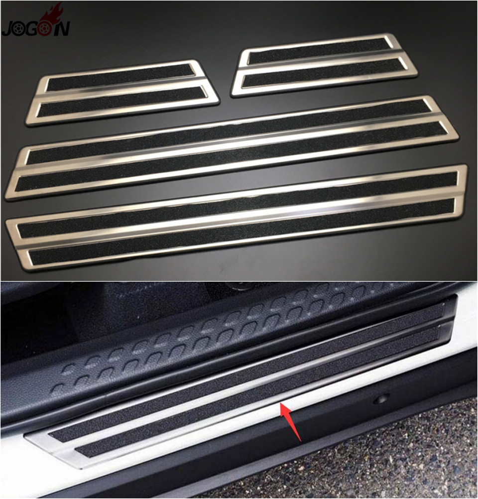 Step protector cover for toyota c hr chr 2016 2017 door sill scuff plate trim