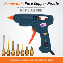 60W 100W EU US Plug Hot Melt Glue Gun Pure Copper Nozzles with Power Switch 5 Glue Sticks 11mm House Power Tool Home DIY Craft цены