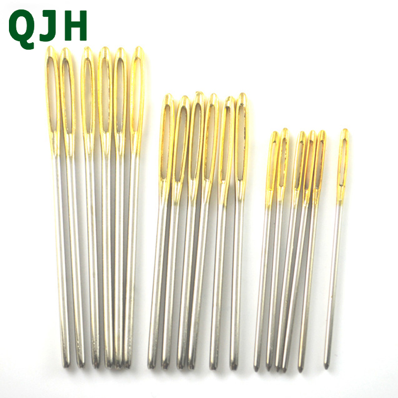 18pcs 3 size Large Sewing Needles Gold Eye Needle Embroidery Tapestry Hand Sewing Tools Wool DIY sewing accessories Игла