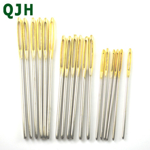 18pcs 3 size Large Sewing Needles Gold Eye Needle Embroidery