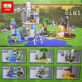 Lepin 6pcs/lot  My World Minecraft 6 in 1 Model kits action anime figures Building Blocks Bricks fun Toys For Children gifts