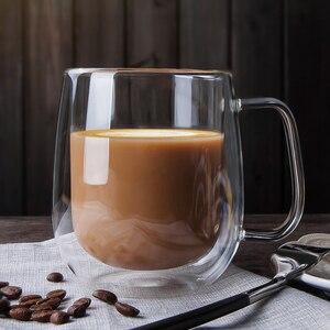 Image 1 - Heat resistant Double Wall Glass Cup Beer Coffee Cup Handmade Creative Beer Mug Tea Cup Whiskey Glass Cups Drinkware