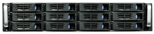 2U hot plug R2312 12 disque châssis de serveur industrielle cabinet grand conseil SATA SAS