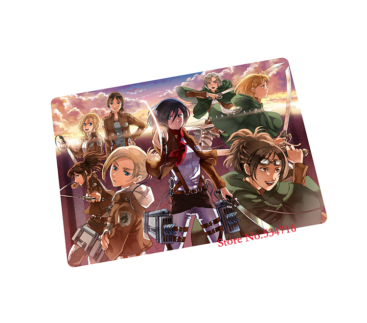 Attack on Titan mouse pad Christmas gift gaming mouse pad laptop large mousepad notbook computer pad to mouse gamer mats