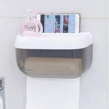 HS040 Bathroom Transparent waterproof paper towel box  mobile phone frame storage rack 22.5*13*13cm