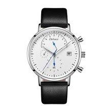Relogio Masculino DEFORCE Men's Watches Date Luminous Hands Leather Waterproof Clock Man Quartz Watches Men Fashion Watch все цены