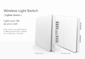 Image 2 - Aqara Wall switch Zigbee Wireless switch Key Smart Light Control single Fire No Neutral by Smart Home APP or Homekit Remote