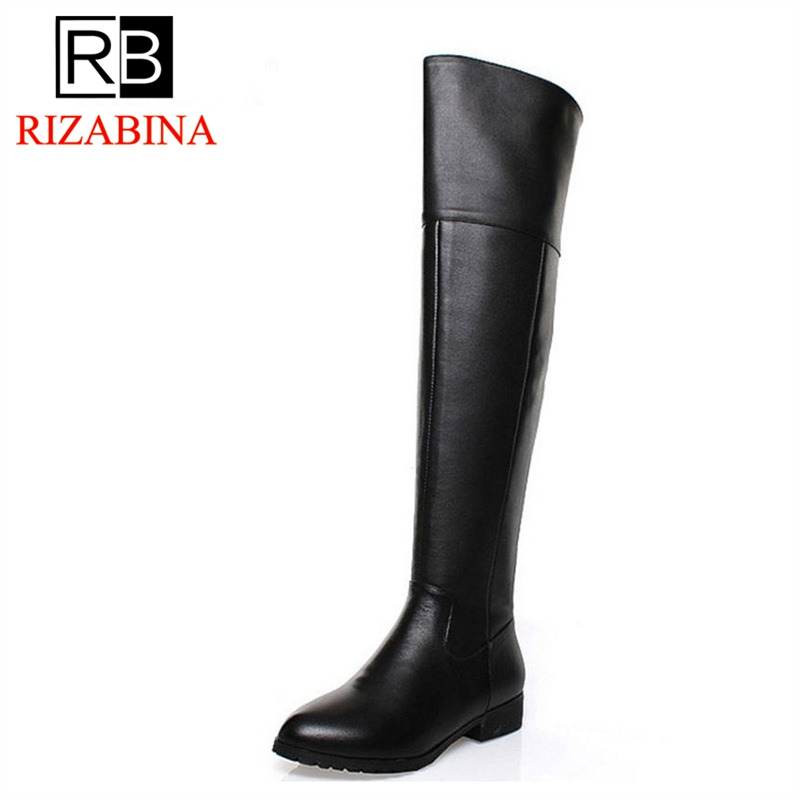 Здесь продается  RizaBina Free shipping over knee long boots natural real genuine leather boots women boot high heel shoes R5017 EUR size 34-42  Обувь
