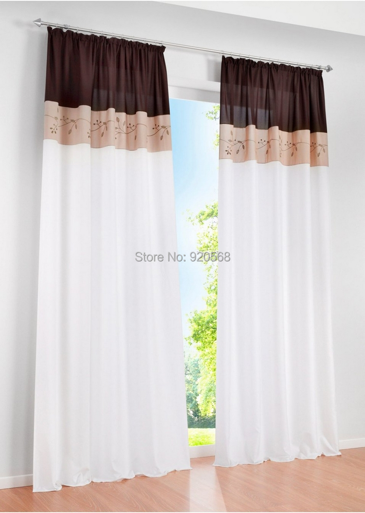 Orange Living Room Curtains Aliexpresscom Buy Fabric Embroidered Patchwork Curtain Living