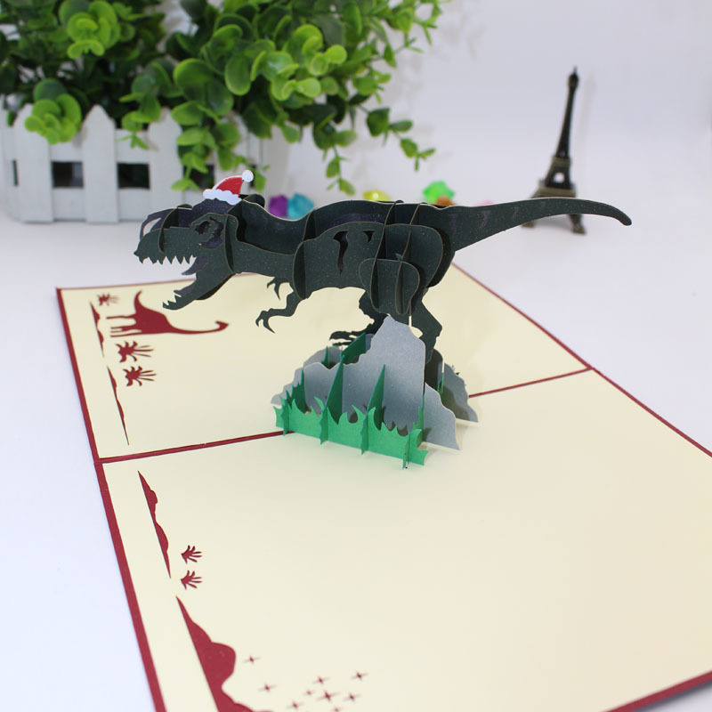 Christmas Party Invitation Card Dinosaur Children Creative Three Dimensional Desktop Decoration Pop Up In Cards Invitations From