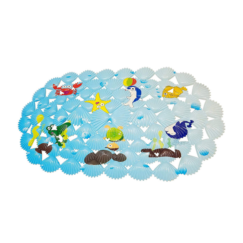 Multi-use bath mat / PVC for bath mats Anti-slip mats for children and shower Coral Fish mini bath mats